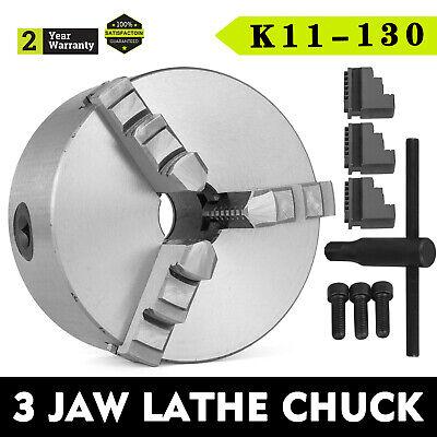 Lathe Chuck K11-130 130mm 3 Jaw Self Centering 5 Inch Cast Iron Cnc Machine