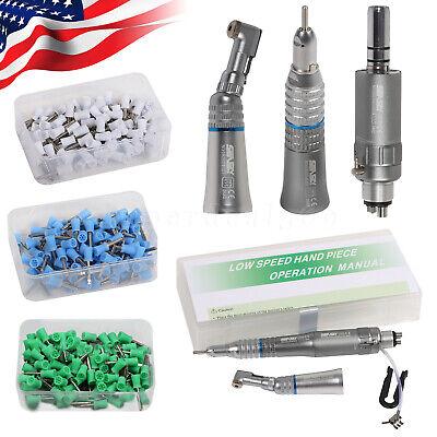 Dental Low Speed Handpiece Kit Contra Anglestraightair Motor 24hole Cups Sa
