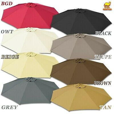 9/10ft Round 10x6.5ft Hanging Cantilever Patio Umbrella Replacement Canopy Top ()