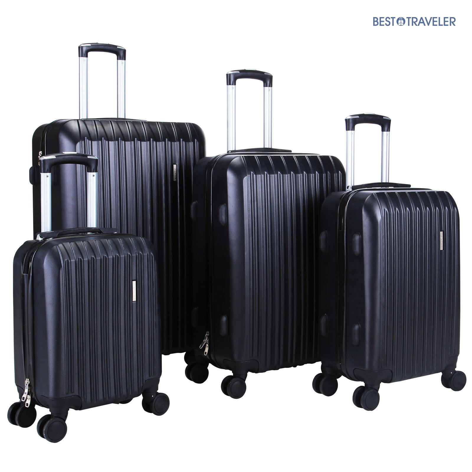 Изображение товара 4Pcs Luggage Travel Set Bag ABS Trolley Spinner Carry On Suitcase TSA Lock Black