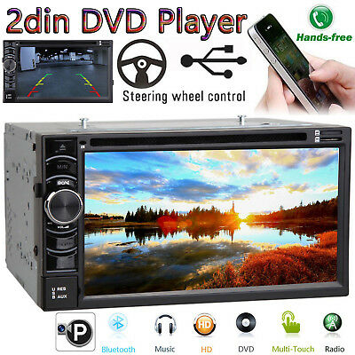 "For Ford F-150 F-250 350 6.2"" 2Din Stereo Car HD DVD Radio Bluetooth TouchScreen"