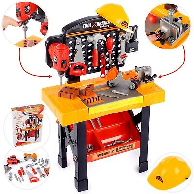 Kinderwerkbank & Zubehör Werkstatt Kleinkindspielzeug Kinderbank Werkzeug KP3778