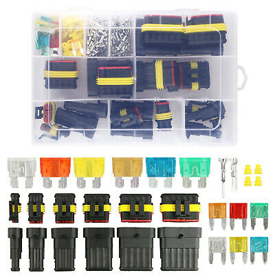 Waterproof Car Auto Electrical Wire Connector Plug Kit 1-6 Pin Way Blade Fuses