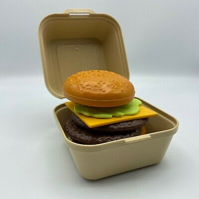 Fisher Price Fun with Play Food Cheeseburger In Takeout Container