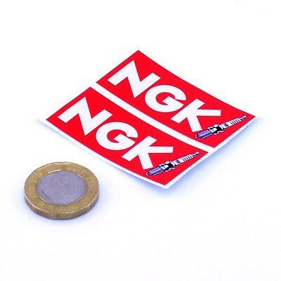 NGK Spark Plugs Stickers Classic Car Motorbike Racing Decals Vinyl 50mm x2