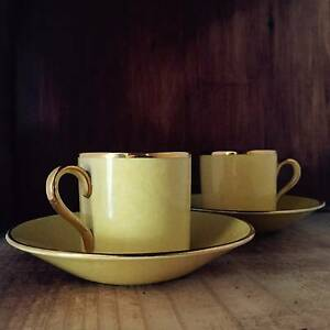 Art Deco Coffee Cups Grimwades Royal Winton Vintage 1930s Brunswick West Moreland Area Preview