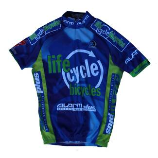 Cannibal 'life cycle bicycles' Blue Cycling Jersey SIZE:S UNISEX