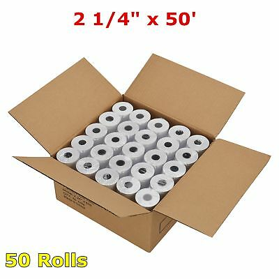 2 14 X 50 Thermal Receipt Paper Pos Cash Register Tape 50 Rolls Free Shipping