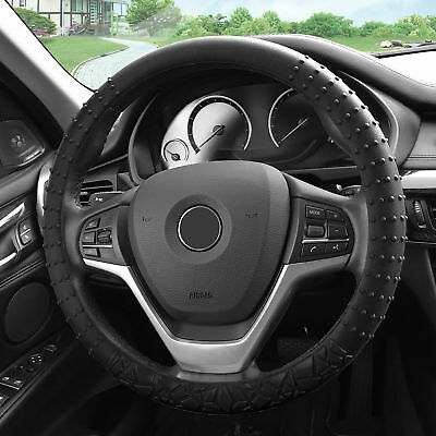 Silicone Steering wheel cover Nibs Sturdy Massage Grip Black for Auto Bmw Steering Wheel Cover