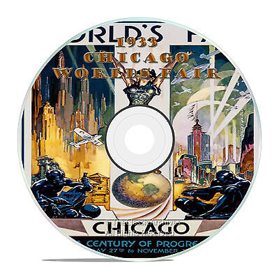 1933 Chicago Worlds Fair Expo Films, Vintage Video Collection on DVD -J46