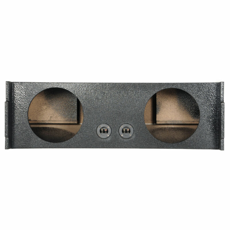 Q Power 2 Hole 12 Inch Car Audio Vented Subwoofer Enclosure for Third Row of SUV