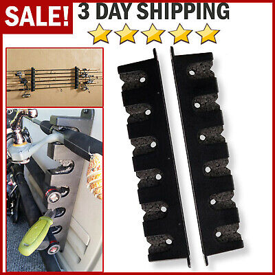 Fishing Pole Storage Racks - Horizontal Boat Rod Rack Vertical Fishing Holder Wall Mount Storage Pole Stand