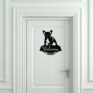 Sticker vinilo french bulldog welcome wall art decall vinyl aufkleber ebay - Vinilo welcome ...
