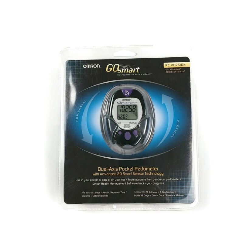 Omron Go Smart Dual-Axis Pocket Pedometer PC Version HJ-720ITC New