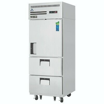 New Everest Half 1 Door 2 Drawer Refrigerator Esr1d2 Nsf 4202 Commercial