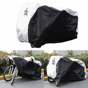 Waterproof Dual 2 Bike Bicycle Scooter Rain Dust Snow Sun Cover w Storage bag