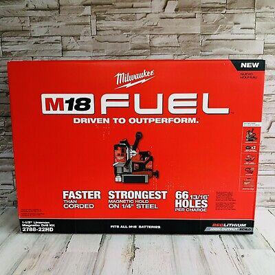 Milwaukee 2788-22hd M18 Fuel 1-12 Lineman Magnetic Drill Press 2x 9 Batts New