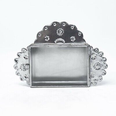 Decorations In Mexico (Rectangular Silver Nicho Made in Mexico, Rustic & Vintage Home Decor)