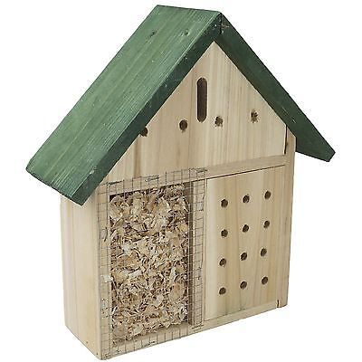 Wooden Garden Insect Bees Ladybird Nest Box Bugs House Hanging Hotel Home