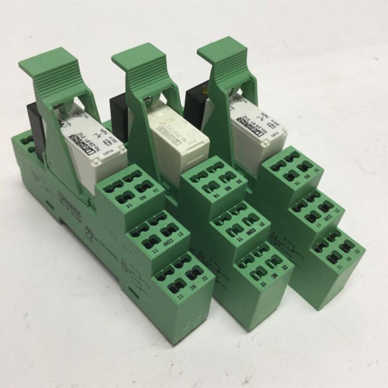 Lot of 3 Phoenix Contact 2961312 Relay 16A Terminal Block 24VDC, LED Indicator