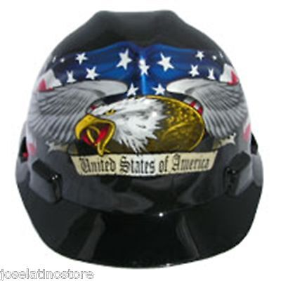 Msa V Gard Cap Style  American Pride Usa Safety Hard Hat  Made In Usa