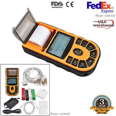Ecg80a Digital Single-channel 12-lead Ecgekg Machine Electrocardiographusb Ce