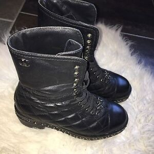Authentic Chanel Military boots