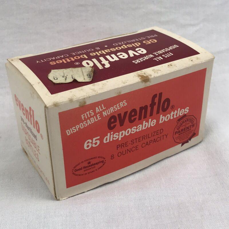 VTG 1969 Evenflo Disposable Bottles 65ct - Pre-sterilized 8oz