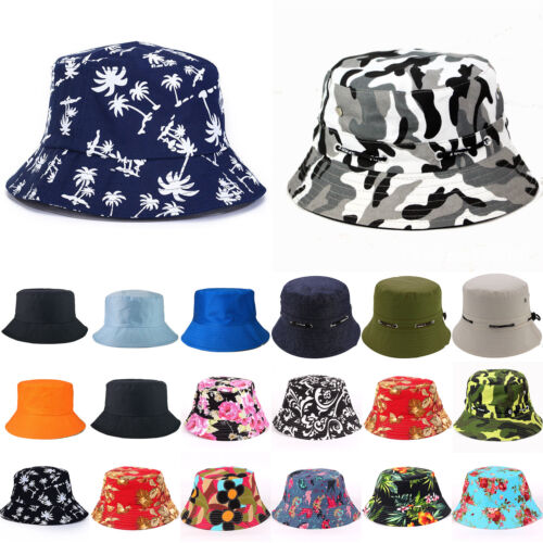 Men Women Cotton Bucket Hat Boonie Brim Fishing Safari Summe