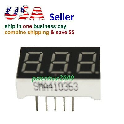 3 Digit Red 7 Segment Led Display Digital Tube Common Anode 11 Pins For Arduino