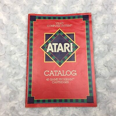 Vintage 1981 Atari Video Computer System Catalog 45 Game Program Cartridges Book