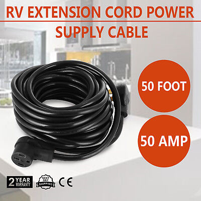 50ft 50amp RV Power Supply Cable for Motorhome Safety Economical Electrical