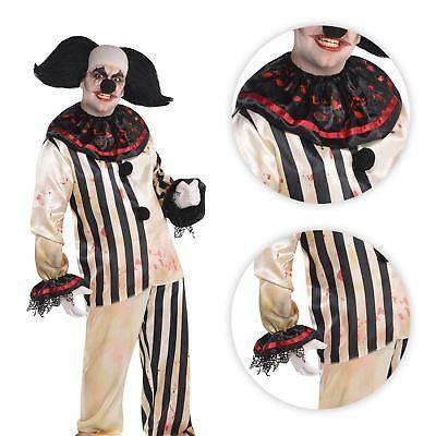 Erwachsene Herren Killer Zirkus Freakshow Böser Clown Halloween Kostüm ()