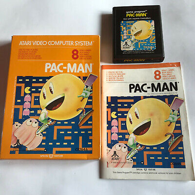 Pac-Man / Boxed With Instructions / Atari 2600 Tested & Working / PAL