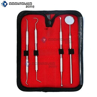 Dental Hygiene Tool Set - Stainless Steel Dental Tooth Pick Mouth Mirrortarter