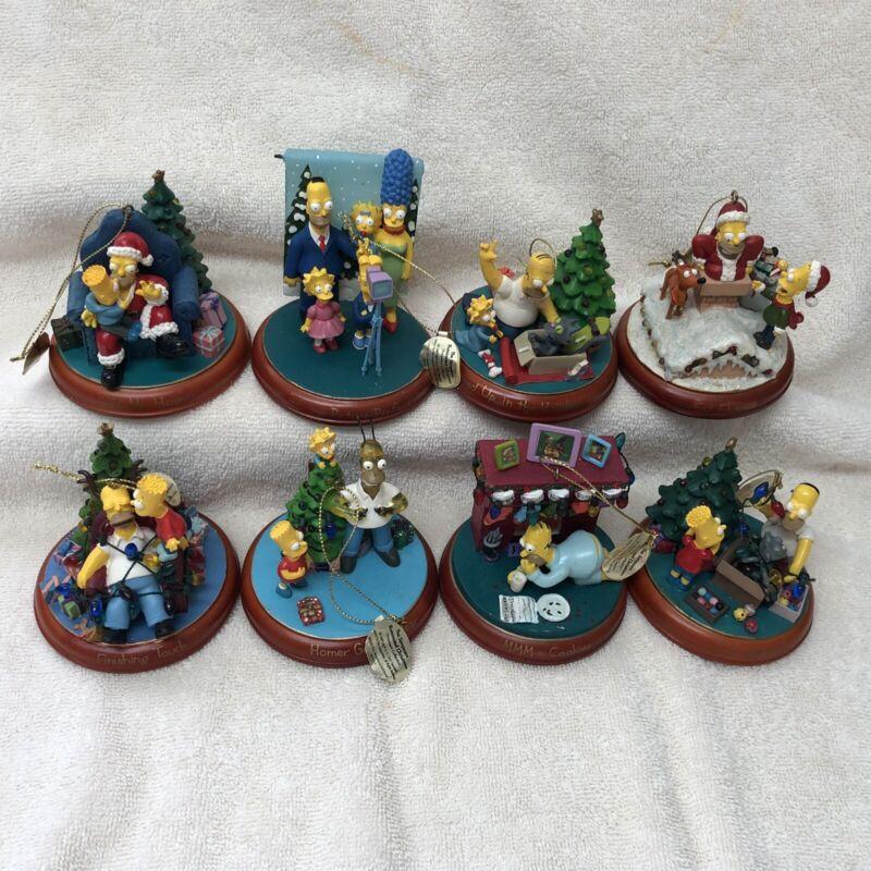 Rare Simpsons Christmas Bradford Ornaments Set Of 8