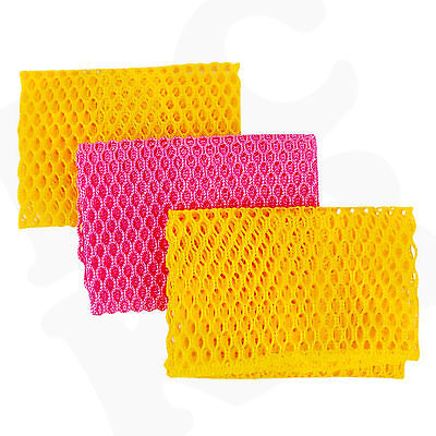 Kitchen Scrubbing Dish Cloth 3pcs -  Multipurpose Mesh Dish Washing (Korea Tool)