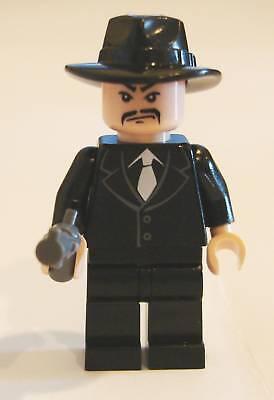 Neu* Lego Minifig Indiana Shanghai Gangster Schnurrbart