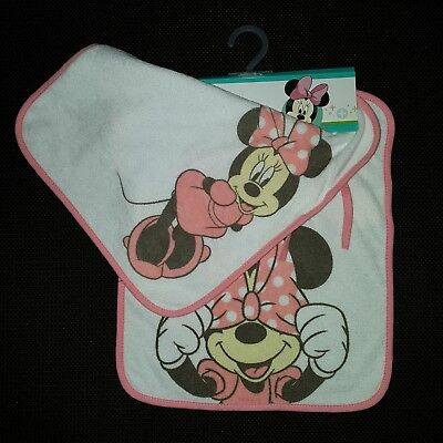 Lot de 2 maxi bavoirs MINNIE
