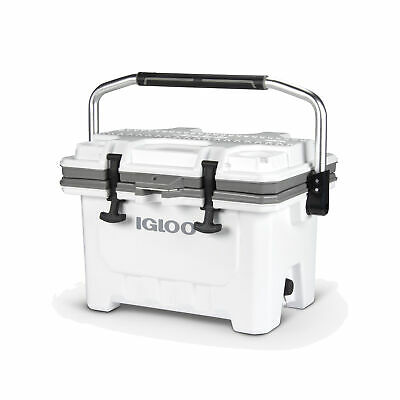 Igloo 00049829 IMX 24 Qt. Insulated Ice Chest Roto-Molded Cooler & Handle, White
