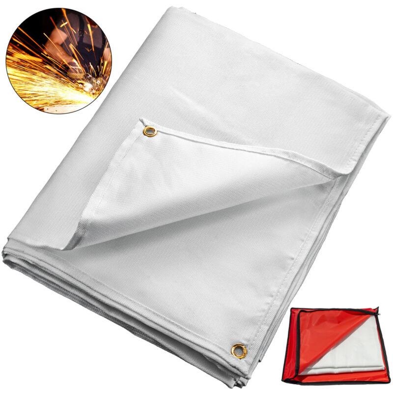 Welding Blanket Fiberglass Blanket 10 x 10 FT Fire Retardant Blanket White
