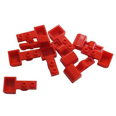 10 NEW LEGO Plate, Modified 1 x 2 with Pin Hole and Bucket (Catapult) Red
