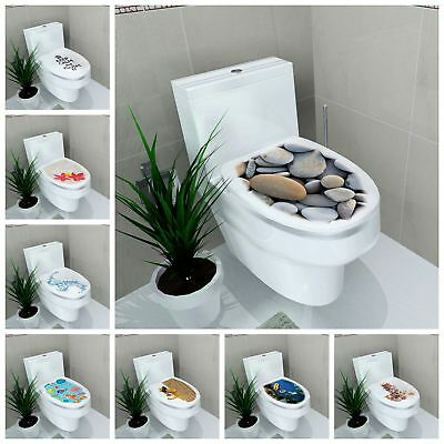 DIY 3D Toilet Lid Seats Cover Wall Stickers Bathroom Decal Mural Home Decoration (Decor Toilet)