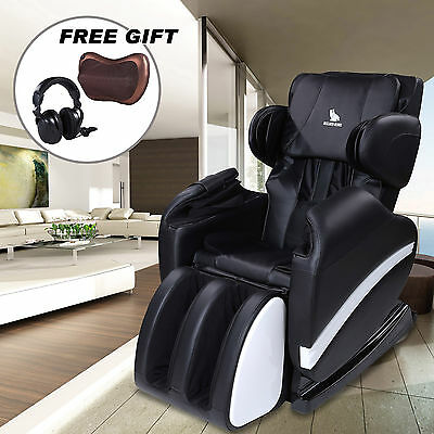Full Body Shiatsu Massage Chair Recliner Zero Gravity w/Heat Stretched Foot Rest