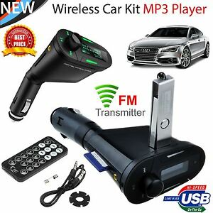 Wireless Car Kit SD Mp3 FM Radio Kit USB Remote Modulator Mmc Player Transmiter