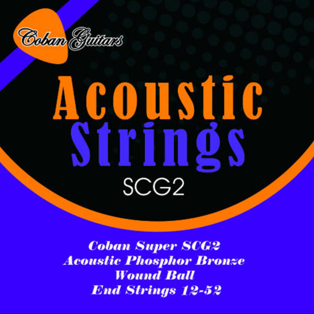 "Coban Electro ""Acoustic"" PHOSPHORUS BRONZE GUITAR strings wound ball end 12-52"