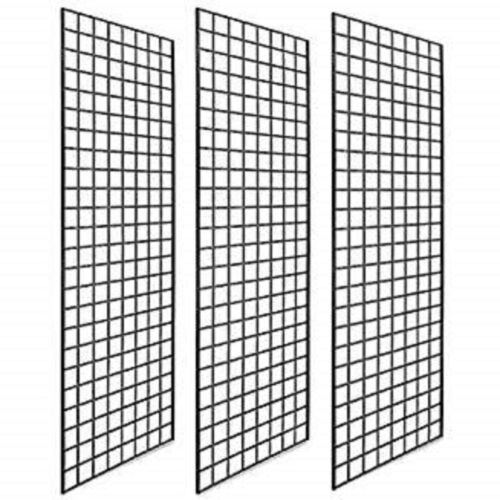 Pack of 3 Gridwall Panels 2x6 BLACK