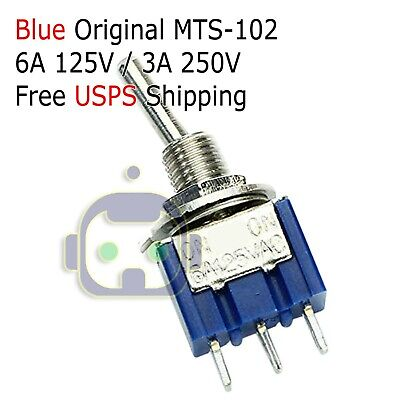 1 Pc New Spdt Mini Toggle Switch On-on Pcb-mount High Quality. Usa Seller