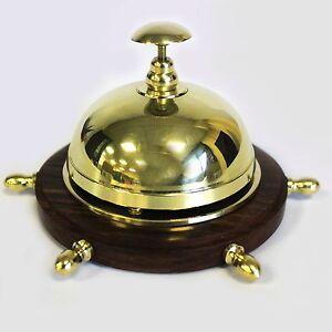 sonnette comptoir reception barre de navire cloche table horeca deco antique ebay. Black Bedroom Furniture Sets. Home Design Ideas