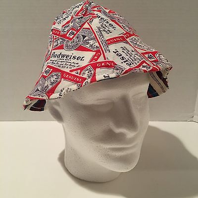 Budweiser Bucket Hat Crushable Reversible Vintage Floppy Worn Beer
